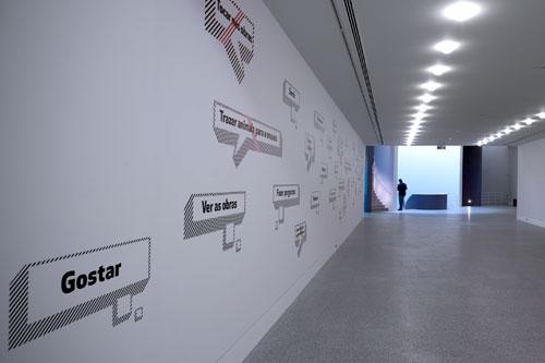 Sinalética para Museu Berardo, 2007 Foto: Fernando Guerra